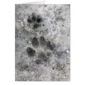 """Frosty Paws"" Note Card"