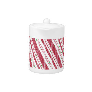 Frosty Red Candy Cane Pattern