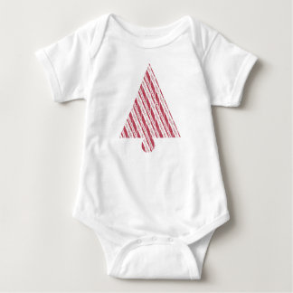Frosty Red Candy Cane Pattern Baby Bodysuit