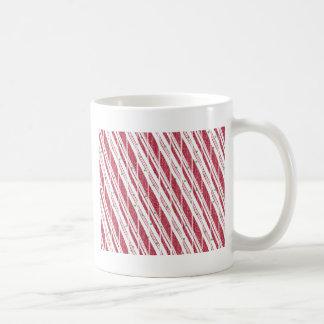 Frosty Red Candy Cane Pattern Coffee Mug