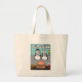 Frosty Relationships Funny Christmas gifts & Tees Large Tote Bag