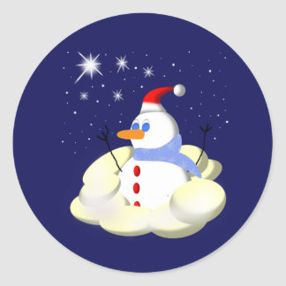 Frosty Round Sticker