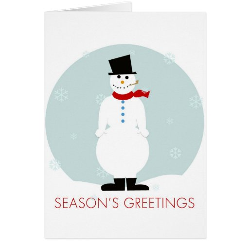 Frosty Season's Greetings Cards