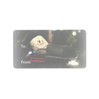 Frosty S'mores Snowman 2 Gift Labels