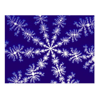 Frosty snowflake effect fractal. postcard