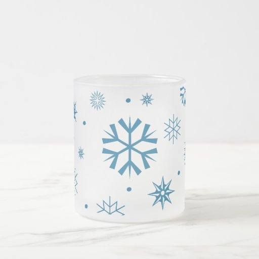 Frosty Snowflake Frosted Mug