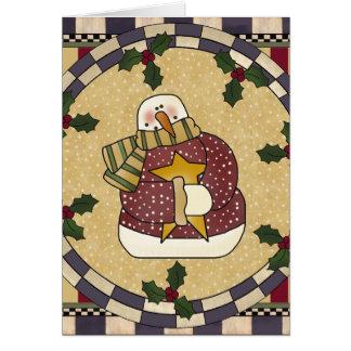 Frosty Snowman Christmas Card