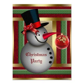 "Frosty Snowman Christmas Party Invitation 4.25"" X 5.5"" Invitation Card"