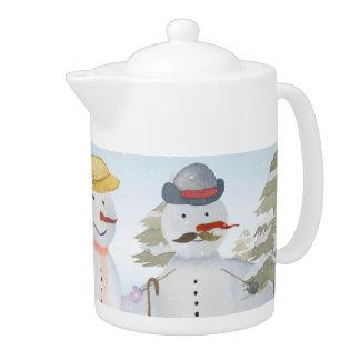 Frosty Snowman & Friends Winter Snow Scene