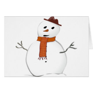 Frosty Snowman Greeting Card