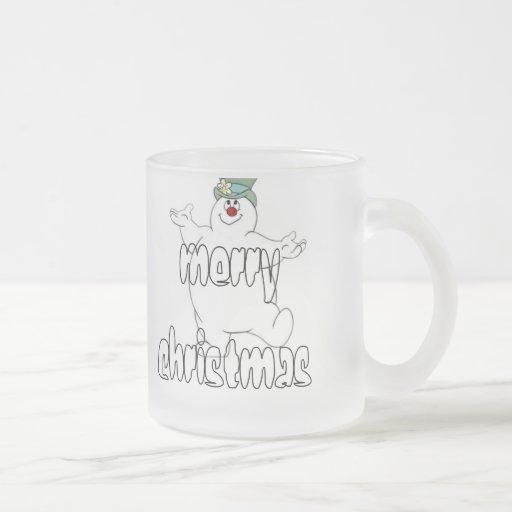 frosty snowman coffee mug
