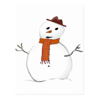 Frosty Snowman Post Card