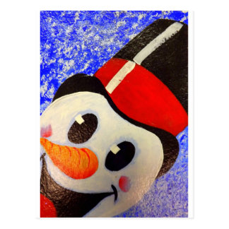 Frosty Snowman Postcard