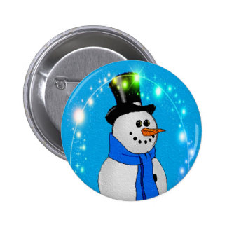 Frosty Stars 2 Inch Round Button