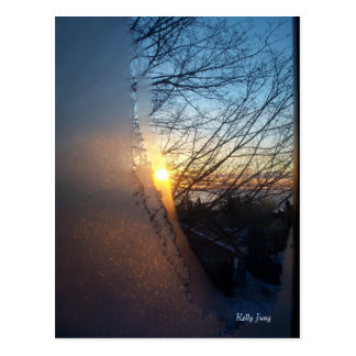 Frosty Sunrise Postcard