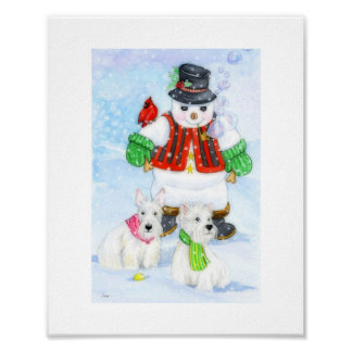 Frosty Terrier Adventures Poster