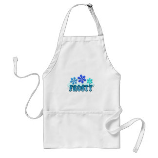 Frosty Text Snow Flakes Design Standard Apron