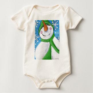 Frosty the happy snowman baby bodysuit