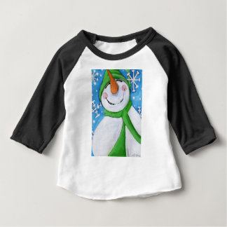 Frosty the happy snowman baby T-Shirt