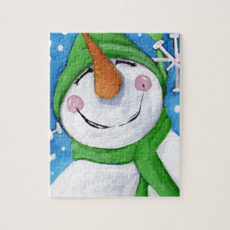 Frosty the happy snowman jigsaw puzzle
