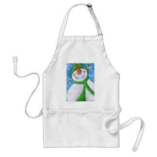 Frosty the happy snowman standard apron