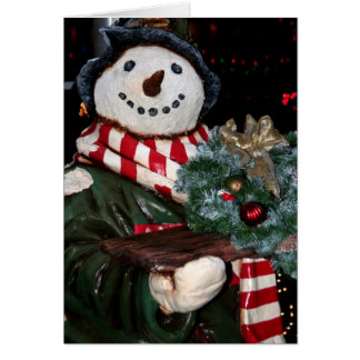 Frosty The Snowman Bearing Yuletide Greetings Card