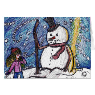 Frosty The Snowman (Blank) Greeting Card