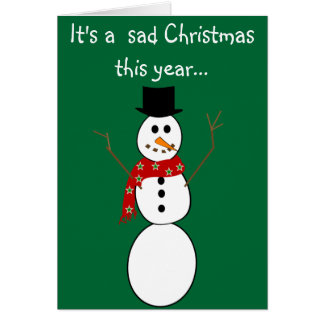 Frosty The Snowman Died Christmas Cards
