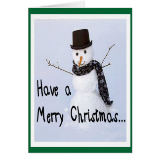 Frosty The Snowman Humorous Christmas Card