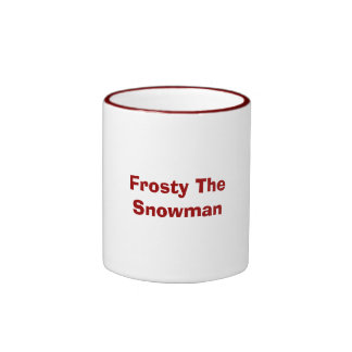 Frosty The Snowman Ringer Coffee Mug
