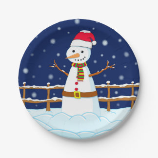 Frosty the Snowman Paper Plate
