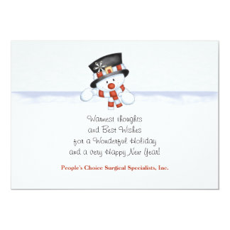 Frosty the Snowman - Personalized Business Holiday Invitations