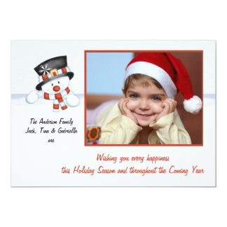 Frosty the Snowman - Photo Holiday Card Announcements