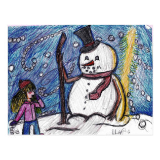 Frosty the Snowman Postcard