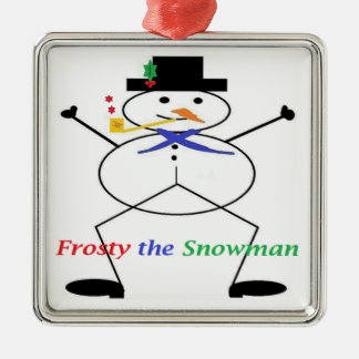 """""""Frosty the Snowman"""" Premium Square Ornament"""