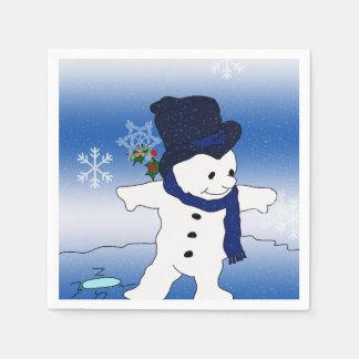 Frosty the Snowman Skating Disposable Napkins