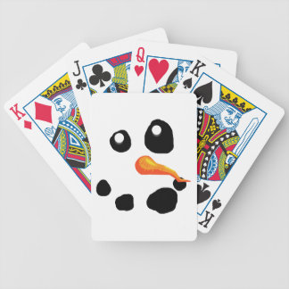 Frosty the Snowman Smiling Bicycle Playing Cards