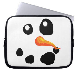 Frosty the Snowman Smiling Laptop Sleeves