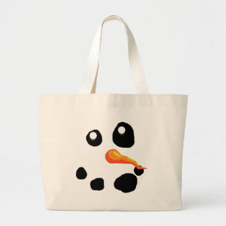 Frosty the Snowman Smiling Large Tote Bag