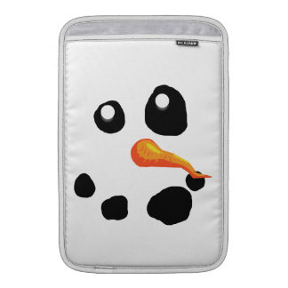 Frosty the Snowman Smiling Sleeves For MacBook Air