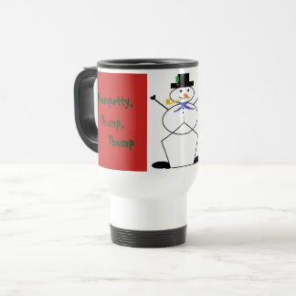 """Frosty the Snowman"" White Travel/Commuter Mug"