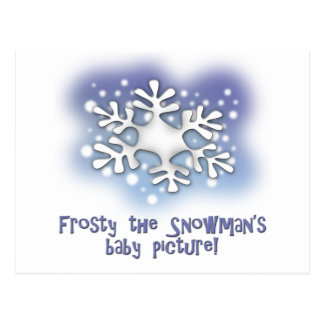 Frosty the snowman's baby pictures postcard