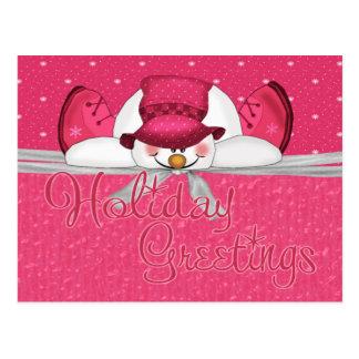 frosty topper card postcard
