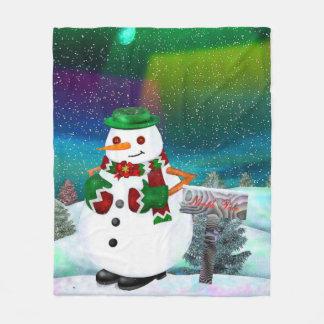 Frosty Town Christmas DECOR THROW Fleece Blanket