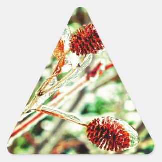 Frosty Triangle Sticker