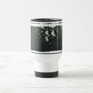 Frosty Window; No Text Stainless Steel Travel Mug