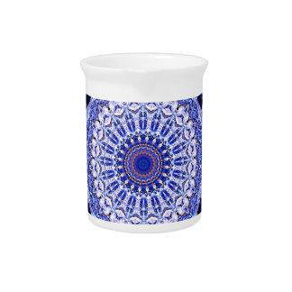 Frosty Window Patterns In Mandala Form Beverage Pitchers
