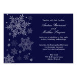 "Frosty Winter Snowflake Wedding invitation 5"" X 7"" Invitation Card"