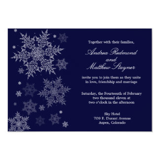 Frosty Winter Snowflake Wedding invitation