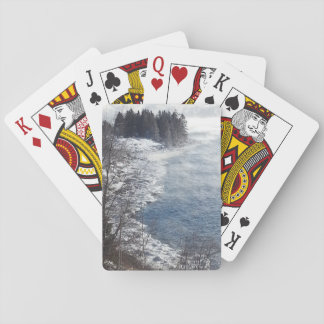 Frosty Winter trees on North Shore Drive Duluth Playing Cards